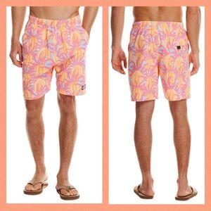 VINEYARD VINES Print Swim Trunks Bathing Suit XL
